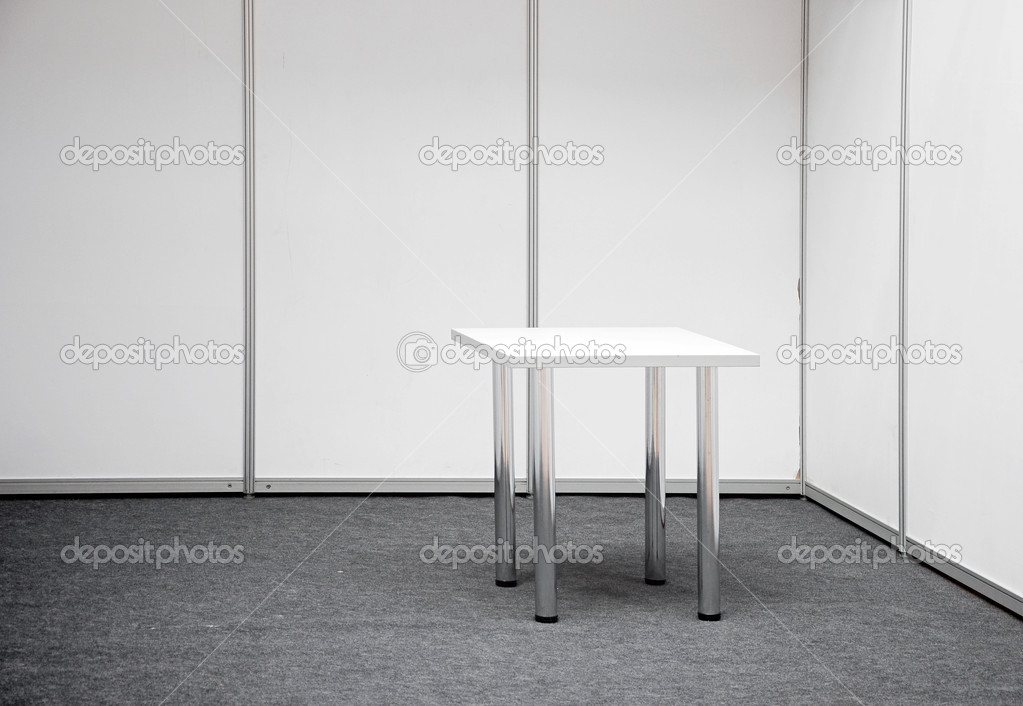 Exhibition stand with table — Stock Photo #9580043