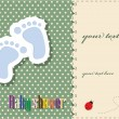 Baby shower - card template - Stok Vektör