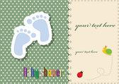 Douche de bébé - modèle de carte — Vecteur