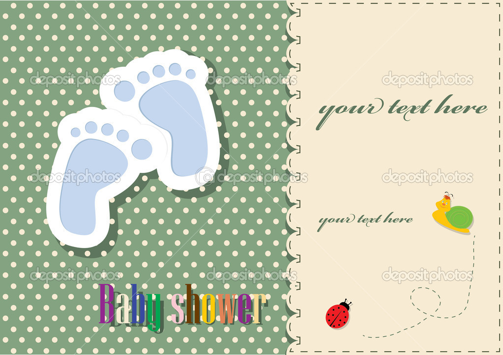 Babyshower plantilla de tarjeta vector stock inxti74 for Baby shower place cards template