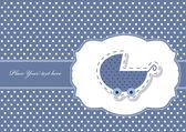 Baby boy arrival card, vector — Stock Vector