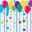 Party balloons with space for text — Stock Vector