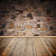 Wood textured backgrounds in room interior — Stock fotografie #9866512
