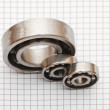 Big and small ball bearings — Stock Photo