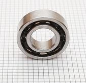 Ball bearings on white background — Stock Photo
