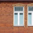Stock Photo: Window of old wooden house
