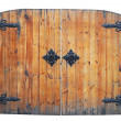 Vintage wooden door on the white background - Stockfoto