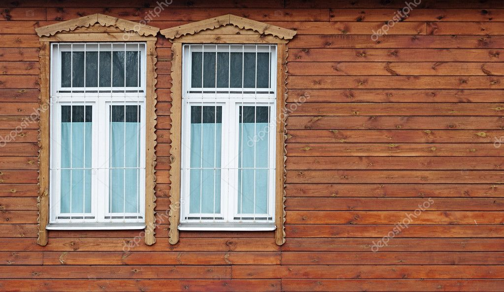Window in the old wooden house — Stock Photo #9930653