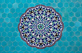Islamic mosaic pattern with blue tiles — Stock Photo