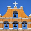 Yellow Mexican church against blue sky — Stock Photo