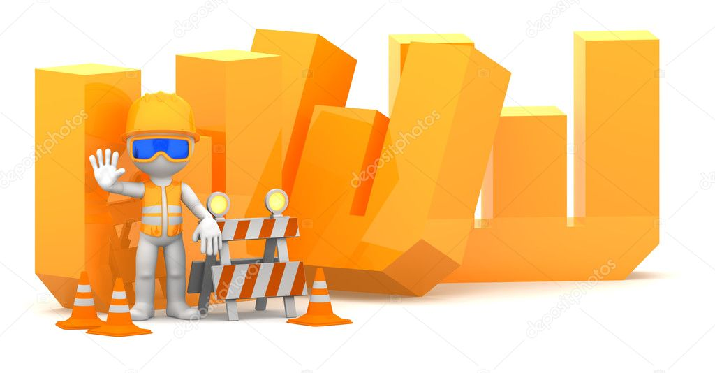 Website under construction concept. Isolted on white — Stock Photo #9134394