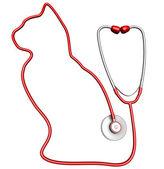 Cat-shaped stethoscope — Stock Photo