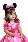 Little girl in fancy dress. — Stock Photo
