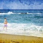 Retro photo of a tropical beach — Stock Photo
