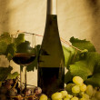 Stock Photo: Still life with wine and grapes