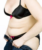 Fat woman — Stock Photo
