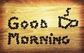 Good morning-caffee — Stock Photo