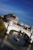 Sant Angelo Castle and Bridge in Rome, Italy — Stock fotografie