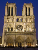 Notre Dame at night, Paris, France — Stock Photo