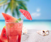 Water melon summer drink — Stock Photo