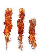 Fuoco fiamme insieme su bianco — Foto Stock