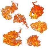 Kolekce plameny ohně — Stock fotografie