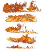 Brand vlammen collectie — Stockfoto