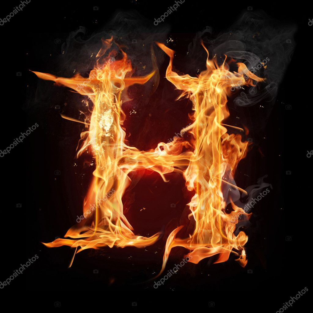 Fire Letter H  buy this stock illustration on Shutterstock amp find other images