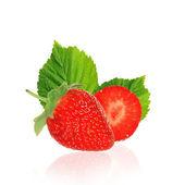 Hermosa fresas aislado en blanco — Foto de Stock