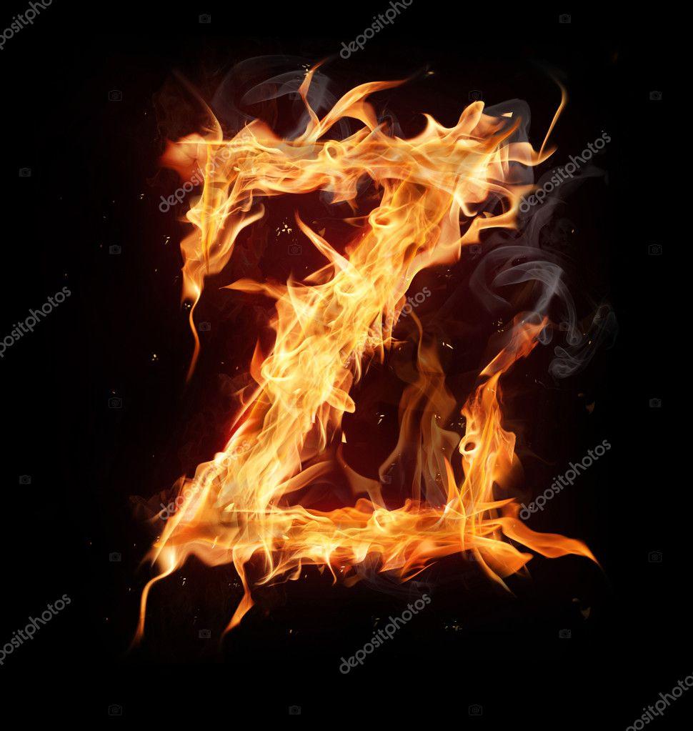 Z Alphabet Letter Fire alphabet letter   Z