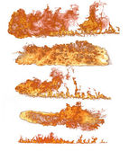 High resolution fire collection of isolated flames on white background — Stock Photo