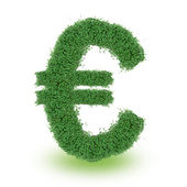 Green alphabet Euro symbol — Stock Photo