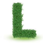 Green alphabet letter — Stock Photo