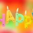 Set of colored birthday candles — Stock Photo