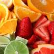 Fruits background — Stock Photo