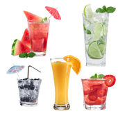 Drinks collection over white — Stock Photo