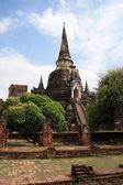 Ayutthaya, Thailand: Wat Prah Si Sanphet — Stock Photo
