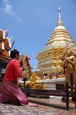 Budista rezar — Fotografia Stock