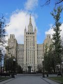 Moscow high rize Stalin building — Stock Photo