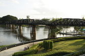 The Death Railway Bridge over Kwai river, Thailand — Stock Photo