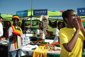 Ethiopian and Jamaican — Stock Photo