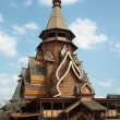 Wooden Church in Izmaylovo Kremlin, Moscow — Stock Photo #10551055