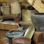 Ancient kitchen utensils — Stock Photo #10551775