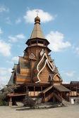 Drewniany kościół w hotelu izmaylovo kremla, moskwa — Zdjęcie stockowe