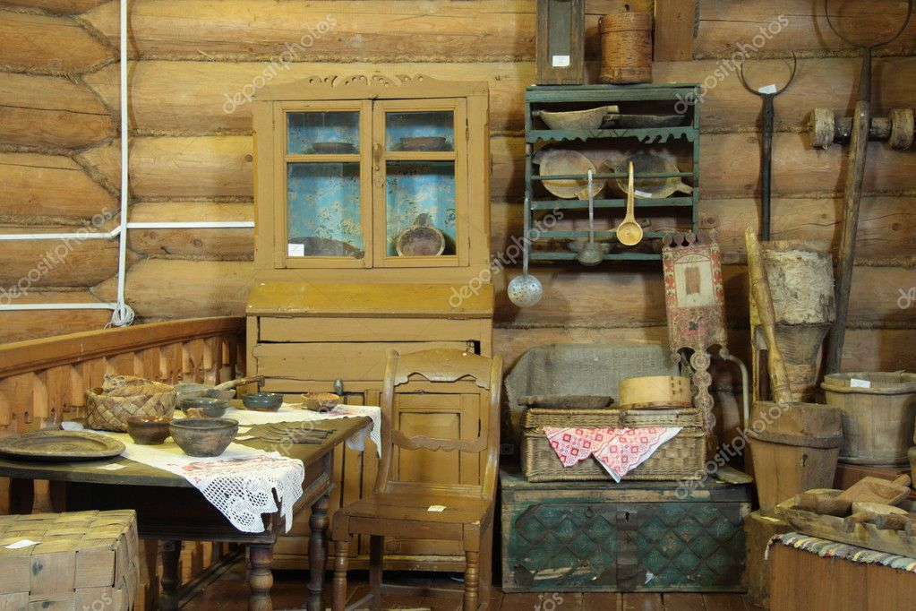 Old wooden house interior stock editorial photo for Inside interieur