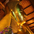 Giant reclining Buddha, Wat Pho, Bangkok — Stock Photo