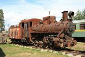 Antique locomotive — Stock Photo
