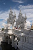 Tourists in The White temple, Chiang Rai, Thailand — Stock Photo