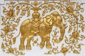 Elephant in Thai architecture — Stock Photo