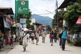 Tourists in Pai, Thailand — Stock Photo